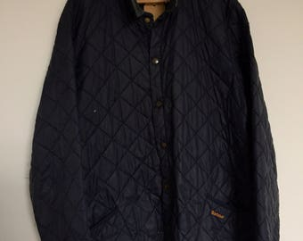 Dark blue Barbour jacket
