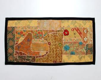 Handmade Embroidered Patchwork Placements Table Top Runner Home Decor  Tribal Tropical Ethnic Hippie Hippy Boho Gypsy