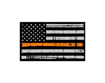Thin Orange Line Search & Rescue Flag Decal