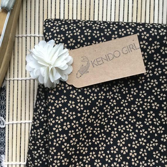 Kendo Tenugui, Japanese Cotton Tenugui -  Twilight Sakura Design by Kendo Girl *Made with Imported Japanese Sevenberry Fabric*