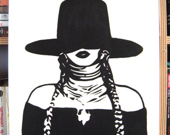 Beyoncé training Hat painting stencil