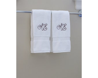 100 % USA Grown | 2 Organic Hand Towels | Monogram Towels | Personalized Orders | Gift Ideas | Decorative | Luxury Towels | Soft & Durable
