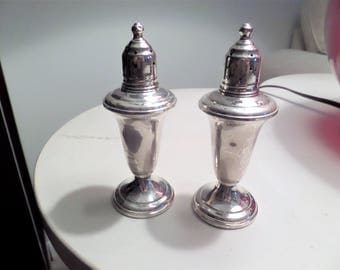 Vintage Sterling Silver Salt Pepper Shakers by Reed & Barton 46 Sterling S  P Shakers