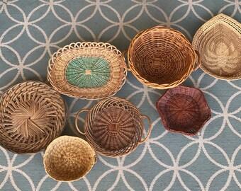 Vintage Basket Wall Art, Vintage Basket Wall, Vintage Basket Collection, Basket Wall, Basket Collection, Vintage Baskets