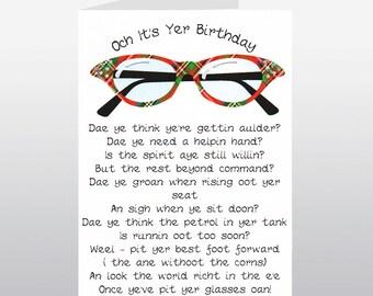 Scottish Birthday Card Specs WWBI68