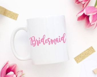 Bridesmaid mug decal, Bridesmaid decal, DIY mug decal, Maid of Honor Decal, Bridesmaid Gift, Maid of Honor Gift, Bridal Party,