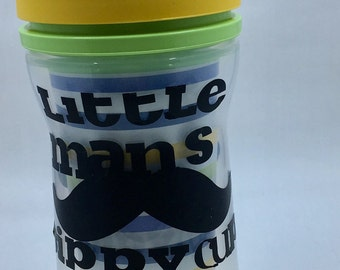 Little mans personalized sippy cup, monogramed kids cup, personalized sippie cup,