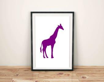 Animal Print Nursery Animal Print Nursery Décor Nursery Print Nursery Art Zoo Animals Giraffe Print Giraffe Art Print Safari Animal