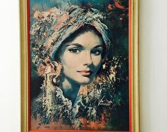 Vintage Print Mid Century Vincente