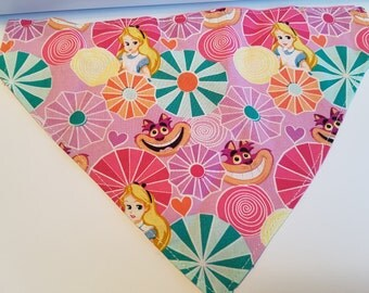 Alice in wonderland Inspired Dog/Cat Bandana/ Over Collar