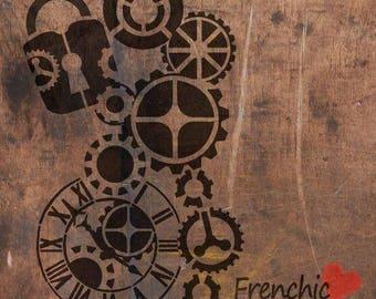 A4 stencil - Steam Punk