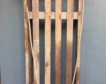 Vintage Wooden Sledge / Sled / Toboggan