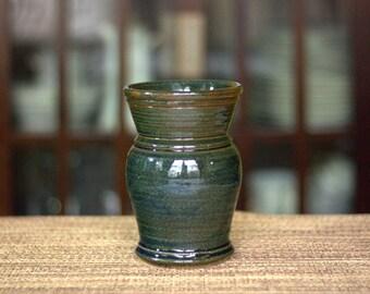 Dark Blue Ceramic Vase - Dark Blue Pottery Vase - Ceramic Vase - Pottery Vase - Handmade Pottery Vase - Handmade Ceramic Vase - Large Vase