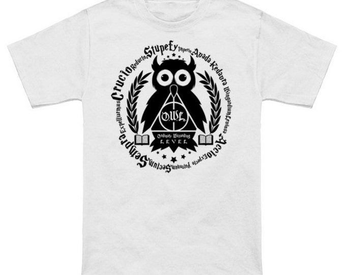 Learn Your Spells Geek T-Shirt HARRY POTTER OWL Nerd Shirt Wizard Quidditch World Cup Fantastic Beasts Sorcerer's Stone Deathly Hallows