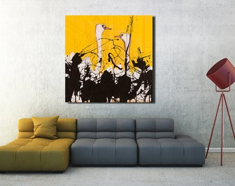 Ostrich Canvas wall art, Savannah Art Print, High Quality Canvas Print, Large Wall Art, Safari Wall art, Wall Art Print, Animal Print #523os