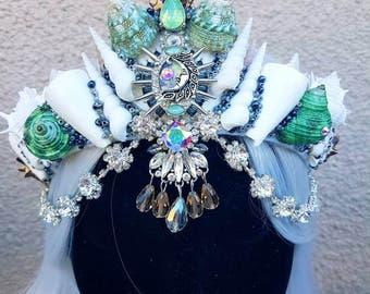 Crescent Moon Mermaid Crown