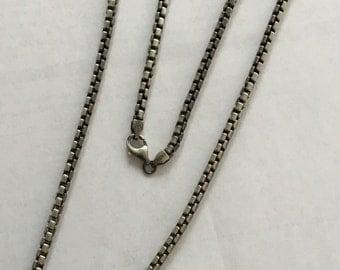 Gunmetal finish sterling silver anti tarnish chain