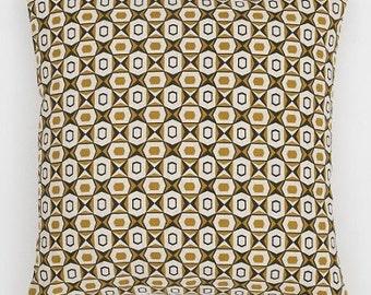 Scandinavian Cushion Cover - Geometric Cushion - Hexagon Cushion - Yellow Grey Cushion - Yellow Cushion - Derin Cushion 50x50cm