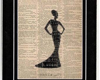 Typography woman side profile