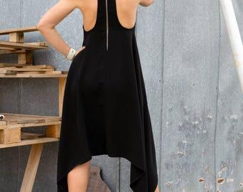 Women Black Backless Dress, Women's Clothing, Oversized Dresses,Loose Dress, Kaftan Maxi Dress, Plus Size Black Dress Nightwear by YoLineXL