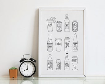 Beer Letterpress Art Print