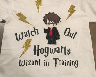 Harry Potter Appliqué tshirt personalized