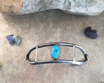 Spring Time Yet Vintage Navajo Turquoise & Sterling Silver Cuff Bracelet