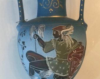 Greek vase, Greek amphora, handmade Greek vase, handpainted, amphora,Greek art