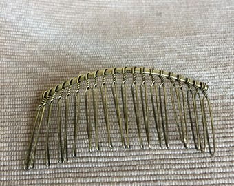 80 x 40MM Vintage Bronze Metal Hair Comb