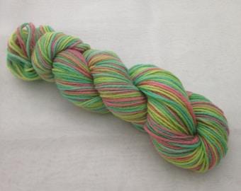 100% Merino hand dyed wool DK