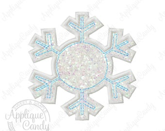Snowflake Applique 4 Machine Embroidery Design Digital File 4x4 5x5 6x6 Snow Flake Winter Frozen INSTANT DOWNLOAD