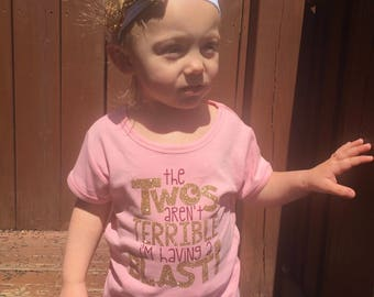 Terrible twos shirt, Two year old birthday shirt, 2 birthday shirt, birthday girl 2, second birthday shirt, second birthday girl, terrible t