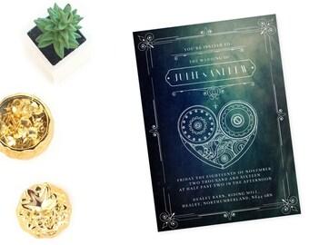 steampunk wedding invitations, steam punk wedding invitations,  steam punk wedding invites, steampunk wedding invites, vintage invitation