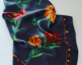 Vintage scarf pure silk made in Italy