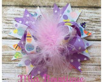 Ready to Ship! Easter Hair Bow, Easter girl bow, Easter outfit