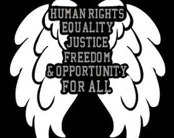 Human Rights Wings Sticker