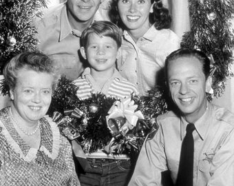 "Early Cast of ""The Andy Griffith Show"" - 5X7, 8X10 or 11X14 Christmas Themed Publicity Photo (EP-769)"