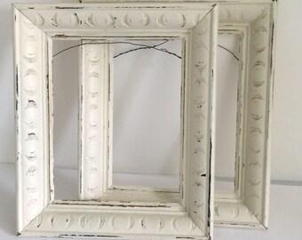 "Vintage Picture Frames, Wooden Picture Frames, Painted and Distressed Picture Frames, 8""X10"" Picture Frames"