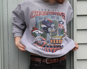 Old School Broncos NFL 97-98 Superbowl Sweater