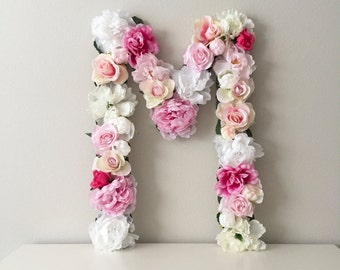 Floral Letter, Wedding Letter, Sweetheart Table Decor, Head Table, Monogram Letter, Flower Monogram, Flower Letter, Floral Initials, Wedding