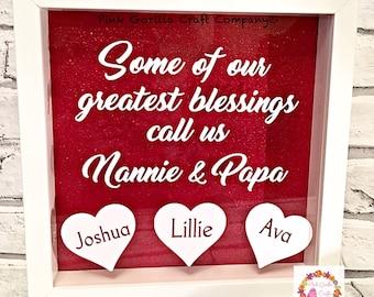 Grandparents Gift / Personalised Frame for grandparents / Gift from grandchildren