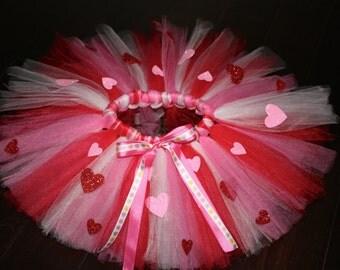 Heart Tutu, Valentines Day Tutu, Sweetheart Tutu, Birthday Tutu, Newborn tutu