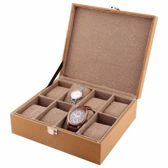 Watch Box for Men, Jewelry Box, Watch Case, Valet Box, Anniversary Present, Christmas Gift, Gift for Husband