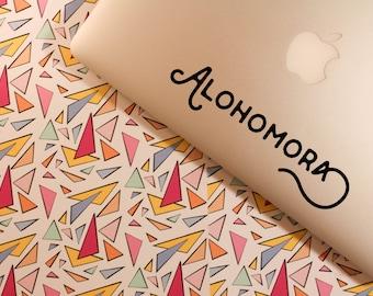 ALOHOMORA vinyl decal    harry potter macbook laptop sticker