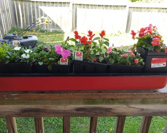 Repurposed Farmall M Valve Cover Planter with Reclaimed Wood