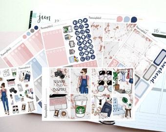 "Blogger/Social Media/Blog ""Blogger Girl"" Themed Planner Stickers for Erin Condren, Kikki K, Filofax, Happy Planner, Websters Pages"