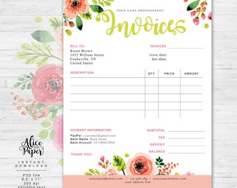 invoice template photography invoice receipt template for, Invoice templates