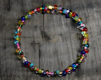 bright drop bead bracelet