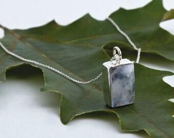 Rainbow Moonstone Necklace, Moonstone Pendant, Dainty Silver Necklace, Sterling moonstone,Natural Moonstone,Радужный Лунный камень, Cеребро