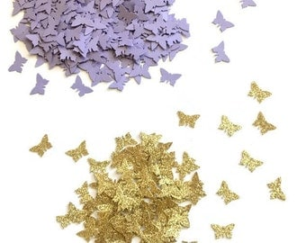 Butterfly confetti , Butterfly party, Lavender and gold butterfly confetti, Butterfly party decorations , Butterfly baby shower, Butterfly